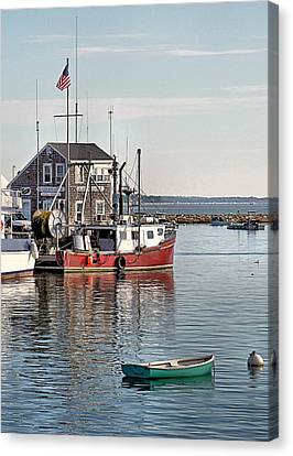 Harbormaster Shack Canvas Print by Janice Drew