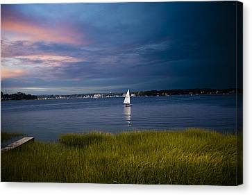 Harborview Sunset Canvas Print by Joshua Francia