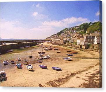Harbour At Low Tide - Mousehole Canvas Print