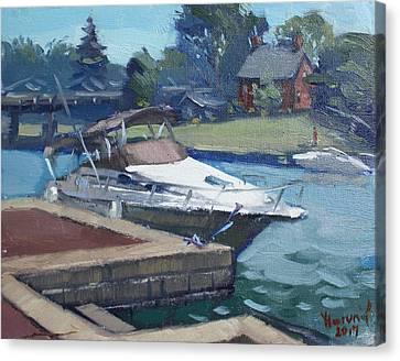 Harbour At North Tonawanda Canvas Print