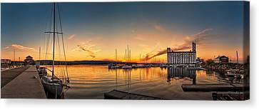 Harbour At Sunset Canvas Print