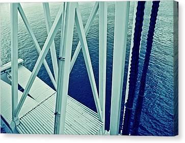 Metallic Sheets Canvas Print - Harbour Grids by Jarmila Kostliva