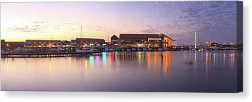 Canvas Print featuring the photograph Harbour Lights, Hillarys Boat Harbour by Dave Catley