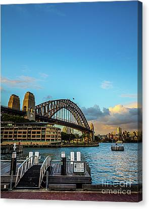 Canvas Print featuring the photograph Harbour Sky by Perry Webster
