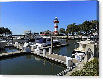 Harbour Town Hilton Head Island South Carolina Canvas Print by Louise Heusinkveld