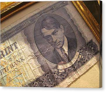 Canvas Print featuring the photograph Hard Currency by Lindie Racz