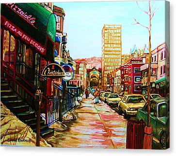 Hard Rock Cafe  Canvas Print by Carole Spandau