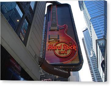 Hard Rock Cafe N Y C Canvas Print by Rob Hans