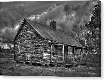 Hard Times Black And White Art Canvas Print