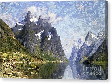 Norway Canvas Print - Hardanger Fjord, Norway by Adelsteen Normann