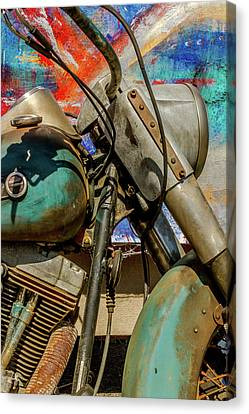 Harley Davidson - American Icon II Canvas Print by Bill Gallagher