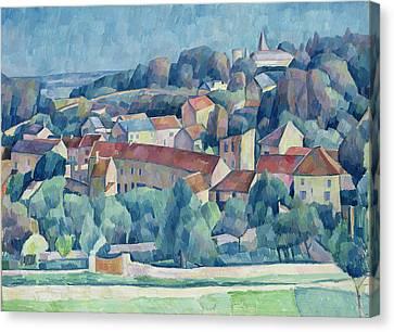 1916 Canvas Print - Hardricourt Village And Castle by Walter Rosam