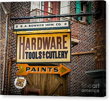 Hardware Canvas Print by Perry Webster