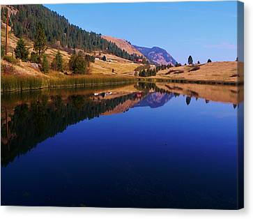 Hardy Mountain Lake Grand Forks Bc Canvas Print by Barbara St Jean