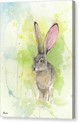 Hare Canvas Print by Angel Tarantella