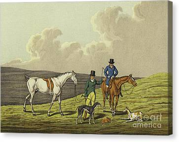 Hare Coursing Canvas Print