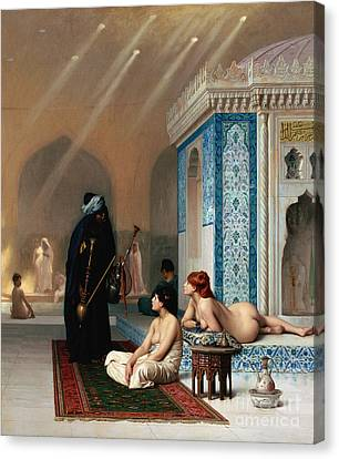 Harem Pool Canvas Print by Pg Reproductions