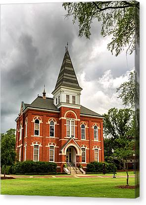 Toomers Oaks Canvas Print - Hargis Hall - Auburn University by Stephen Stookey