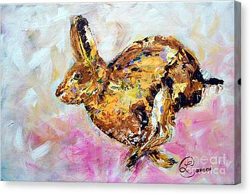 Haring Hare Canvas Print by Lynda Cookson