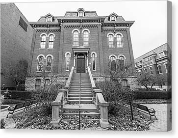 Harker Hall University Of Illinois  Canvas Print by John McGraw