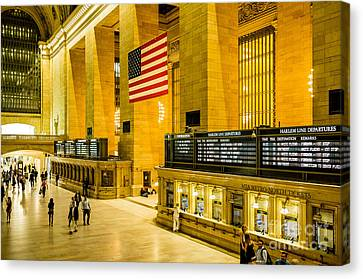Canvas Print featuring the photograph Grand Central Pride by M G Whittingham