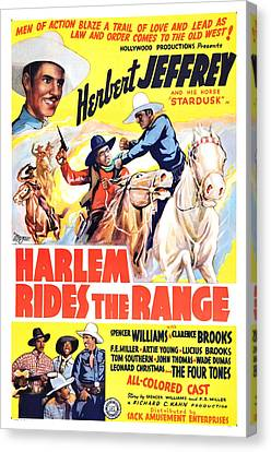 Harlem Rides The Range 1939 Canvas Print by Mountain Dreams