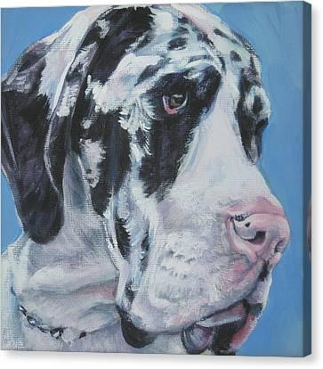 harlequin Great Dane Canvas Print by Lee Ann Shepard