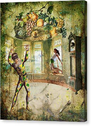 Harlequin Canvas Print by Van Renselar