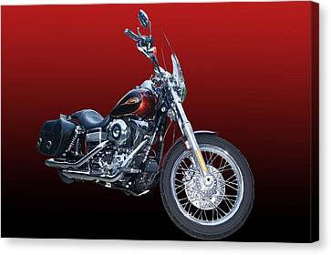 Harley Bike Canvas Print by Jim  Hatch