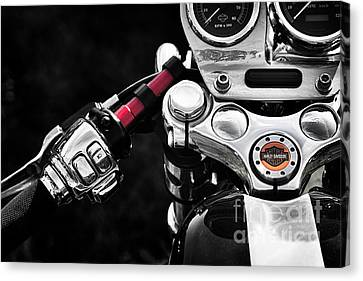 Front End Canvas Print - Harley Cafe Racer by Tim Gainey