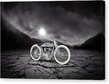 Harley Davidson 11k 1920 Mountains Canvas Print by Aged Pixel