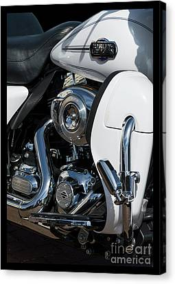 Canvas Print featuring the photograph Harley Davidson 15 by Wendy Wilton