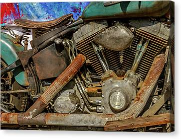 Harley Davidson - An American Icon Canvas Print by Bill Gallagher