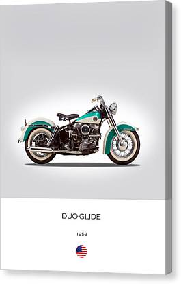 Harley-davidson Duo-glide Canvas Print by Mark Rogan