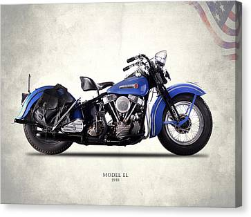 Harley-davidson El 1948 Canvas Print by Mark Rogan