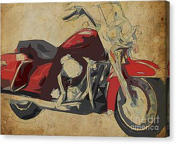 Harley-davidson Flhr Road King - 2013 Canvas Print by Pablo Franchi