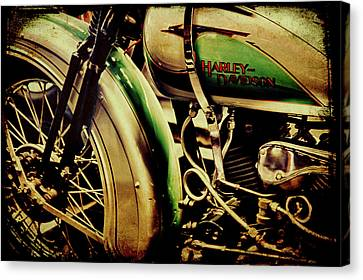 Canvas Print featuring the photograph Harley Davidson by Joel Witmeyer