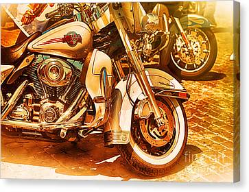 Harley Davidson Motor Cycles Canvas Print by Stefano Senise