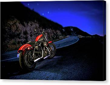 Canvas Print featuring the photograph Harley Davidson Nightster by YoPedro