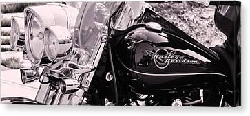 Harley Davidson Road King  Motorcycle Canvas Print by Lisa  DiFruscio