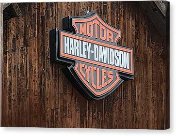 Harley Davidson Sign In West Jordan Utah Photograph Canvas Print