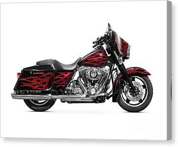 Harley-davidson Street Glide Motorcycle Canvas Print by Oleksiy Maksymenko