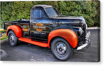 Harley Davidson Truck Canvas Print by Todd Hostetter