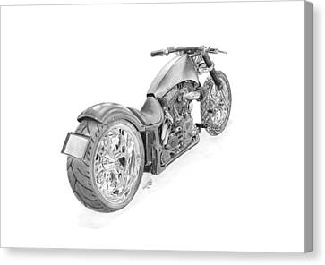 Harley-davidson Twin Cam Custom Canvas Print by Gabor Vida