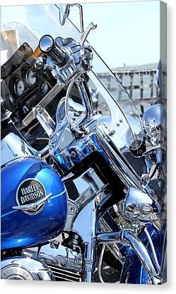 Harley-davidson Canvas Print by Valentino Visentini