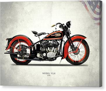 Harley-davidson Vlh 1936 Canvas Print by Mark Rogan
