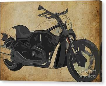 Harley Davidson Vrscdx Night Rod - 2014 Canvas Print by Pablo Franchi
