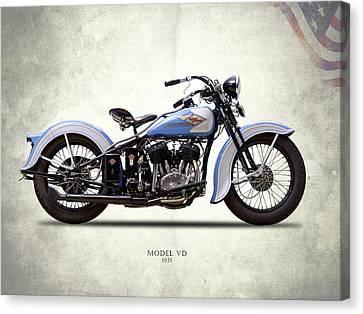 Harley Model Vd 1935 Canvas Print by Mark Rogan