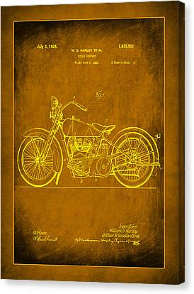 Harley Motorcycle Support Patent 1b Canvas Print