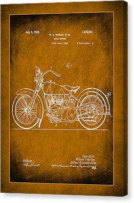 Harley Motorcycle Support Patent 1c Canvas Print